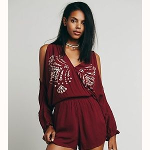 Free People Love is All Around romper M